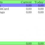 BlackBerry Bold で出納管理(家計簿兼用)